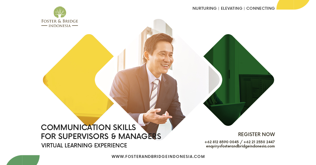 """""""Communication Skills for Supervisors and Managers Online Training Foster and Bridge"""""""
